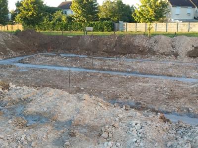 photo construction maison fondations