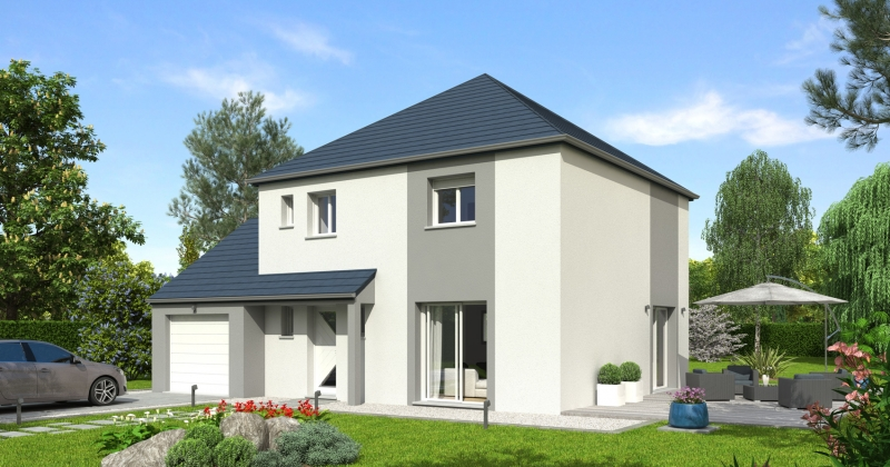plan Maison contemporaine 3 chambres