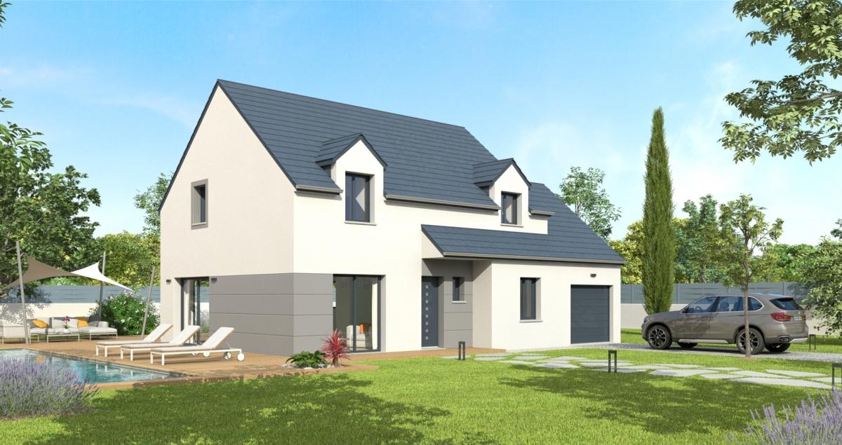 Mod le de maison arnica bessin pavillons constructeur for Constructeur maison cherbourg