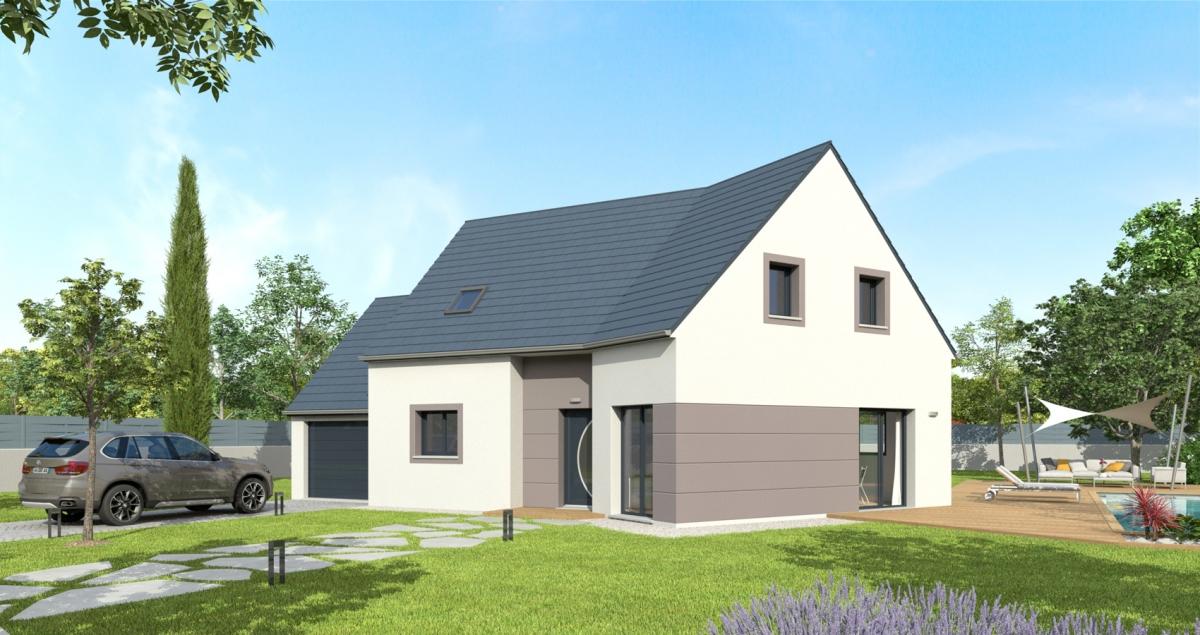 Mod le de maison acacia bessin pavillons constructeur for Constructeur de maison normandie