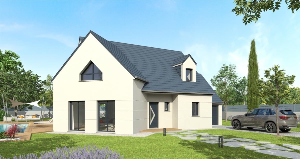 Mod le de maison authie bessin pavillons constructeur for Constructeur de maison normandie
