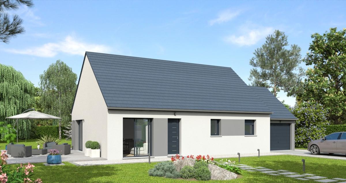 Mod le de maison riva bessin pavillons constructeur en for Recherche constructeur maison individuelle