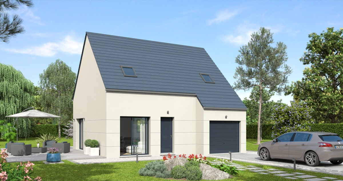 Mod le de maison soprano bessin pavillons constructeur for Constructeur de maison normandie