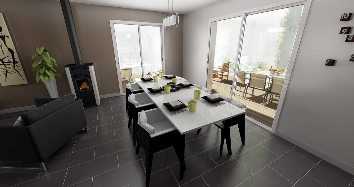 Photo Salle à manger maison 4 chambres 1 au rdch